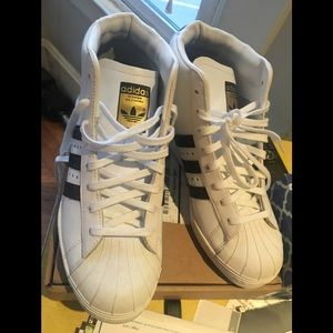 EUC high top adidas with wedge inside- reposh